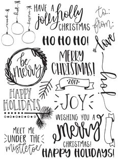 Christmas Photo Overlays + Free Font by Dansie Design on Creative Market – Christmas DIY Holiday Cards Font Christmas, Christmas Doodles, Christmas Drawing, Christmas Quotes, Christmas Pictures, Merry Christmas Calligraphy, Xmas Cards, Holiday Crafts, Christmas Letters