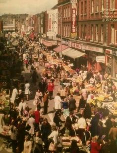Moore Street, Dublin, Ireland Looking towards Parnell Street. Dublin Street, Dublin Airport, Dublin City, Dublin Ireland, Ireland Travel, Old Pictures, Old Photos, Easy Knitting, Knitting Patterns