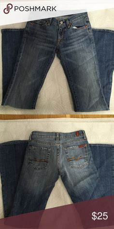 7 For All Mankind Jeans, Size 24 Worn once, these jeans are in amazing condition. 7 For All Mankind Jeans Boot Cut