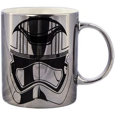Star Wars Episode VII Captain Phasma Mug (Chrome) ($9.97) ❤ liked on Polyvore featuring home, kitchen & dining, drinkware, mug, star wars and star wars mug