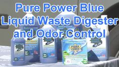 Pure Power Blue Liquid RV Holding Tank Treatments.