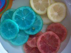 Limoni cororati fai da te, Senza Coloranti