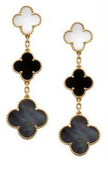Black & Gold Alhambras earrings