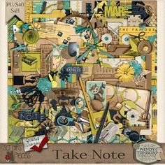 Take Note by Wendy Tunison Designs {PU/S4O/S4H} [wt_TN] - $7.99 : Scraps N Pieces Store #digitalscrapbooking #scrapbooking #scrapsnpieces