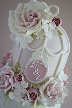 Birdcage by Cotton and Crumbs, via Flickr - some people have so much talent .., Love the plaque with the initials
