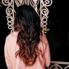 black hair ombre