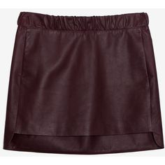 Neil Barrett Leather Mini Skirt: Burgundy ($399) ❤ liked on Polyvore featuring skirts, mini skirts, bottoms, saias, sexy leather mini skirt, elastic waist mini skirt, sexy short skirts, leather mini skirt and purple skirt