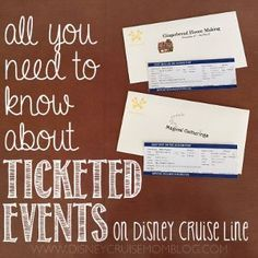 Read all about which activities onboard a Disney cruise require tickets and how to get them.