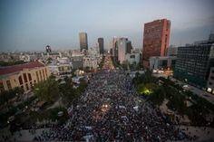 La movilización en el Monumento a la Revolución. Foto: Xinhua