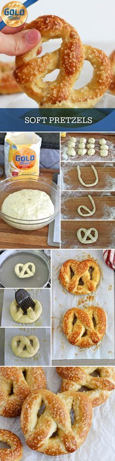 Super soft pretzels with a salty crust that are easy to make and better than the ones you'll buy at the mall or a ballpark...