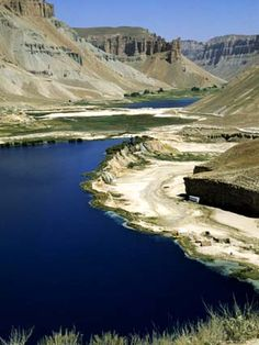 Band-I-Zulfiqar, the Main Lake at Band-E-Amir (Dam of the King), Afghanistan's First National Park
