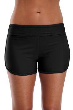 88e3b9b14af Women's Swim Shorts Sports Swim Bottom Tankini Bikini Bottoms Modest - Black  - C3184RIQHQD