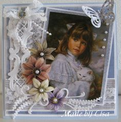 Handmade Lisa Schelvis Baby Scrapbook, Scrapbook Layouts, Picture Cards, Photo Craft, Vintage Cards, Ribbons, Mixed Media, Shabby Chic, Romantic