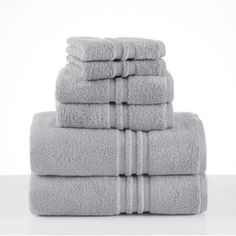 Under the Canopy Unity 6 Piece Towel Set Chrome - 079465022957