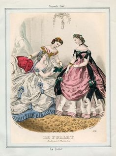 In the Swan's Shadow: Le Follet, March 1865.  Civil War Era Fashion Plate