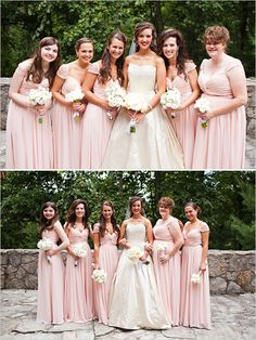 pink bridesmaid dresses | Let us help you plan all the details for your wedding! www.PerfectDayWeddingPlanners.com