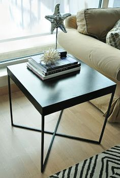 simply n*amoured: IKEA Lack table Rehashed einfach n * amoured: IKEA Lack Tisch Rehashed Ikea White Side Table, Ikea Lack Side Table, Ikea Lack Coffee Table, Lack Table Hack, Console Table Canada, Bedside Table Ikea, Wooden Console Table, Glass Side Tables, Home Decor Furniture