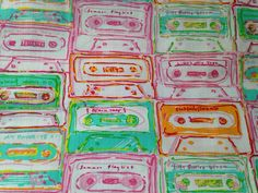 Lilly Pulitzer fabric in Multi Summer Mix - lilly + mix tapes = summer