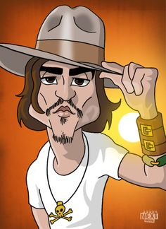 Cartoon Johnny Depp