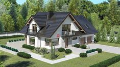 Projekt Dom przy Cyprysowej 15 K6 125,87 m2 - koszt budowy - EXTRADOM House Layout Plans, House Layouts, House Plans, Simple Bungalow House Designs, Modern Bungalow House, House Design Pictures, Design Case, Shed, Villa