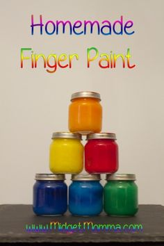 Homemade finger paint is perfect for kids especially preschoolers. Older kids can help make it but the preschoolers will love this! #DIY #crafts #painting #homeschool
