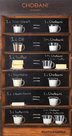 Replace many cooking ingredients with greek yogurt!