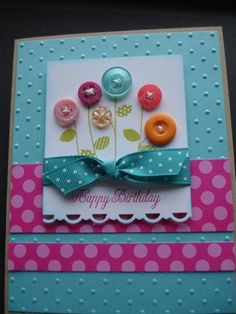 PTI button bouquet by terry serman - Cards and Paper Crafts at Splitcoaststampers