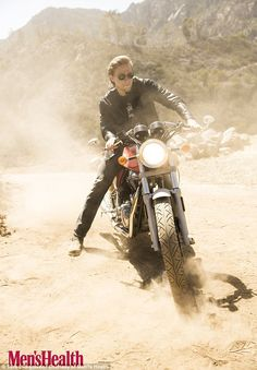 Cool rider: Charlie admits he didn't bike before landing the lead in Sons Of Anarchy, but ...