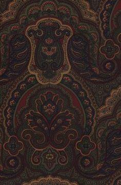 ralph lauren wallpaper | Crayford Paisley Malachite Wallpaper