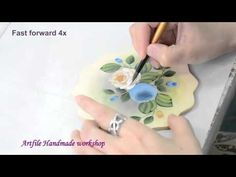Artfile Tole Painting Tutorial - Simple Roses - YouTube