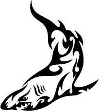 New Custom Screen Printed Tshirt Tribal Shark Animal Zoo Small - 4XL Free Shipping