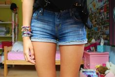 Denim Shorts Dress | http://onetrend.net/denim-shorts-dress/