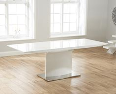 Hailey 160cm White High Gloss Extending Dining Table  | The Great Furniture Trading Company