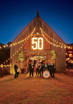 Step Inside the Southern Living Barn Bash Soirées Southern Events Planning Golden Anniversary, 40th Anniversary, Anniversary Parties, 50th Wedding Anniversary Party Ideas, 50th Anniversary Decorations, Barn Parties, 50th Birthday Party, Sister Birthday, Birthday Gifts