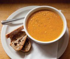 Vegetarian Spiced Carrot & Lentil Soup Recipe | from Zoë's Bakery Café in Toronto | House & Home