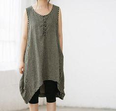 sleeveless summer dress Irregular sleeveless gown by MaLieb, $66.00