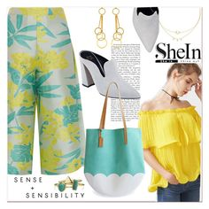 """Yellow... off the shoulder top.."" by nihal-imsk-cam ❤ liked on Polyvore featuring Libertine, PatBo, Brika, Marni and Bling Jewelry"