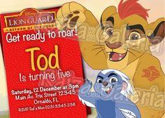 The Lion Guard Birthday Invitation  We deliver by RaizaysuGaleria