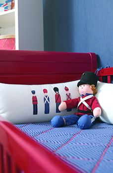 Red White Blue Nursery with Toy Soldier Theme
