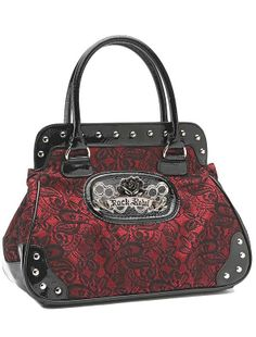 Rock Rebel // Rock Rebel Vintage Red Wine Lacey Hand bag