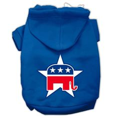 Republican Screen Print Pet Hoodies Blue Size XXL (18)