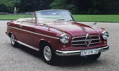 Borgward Isabella cabriolet - Dad had a Borgward before I was born . I would ♥ to get hold of something like this to restore with my son. Volvo, Peugeot, Convertible, Mercedes Benz Unimog, Cabriolet, Unique Cars, Sweet Cars, Car Brands, Car Manufacturers