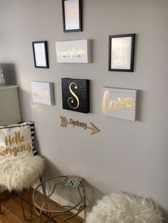 "Black White & Gold Bedroom we just did for our ""Tween"""