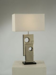 NOVA Lighting Bulmaro Table Lamp, Silver