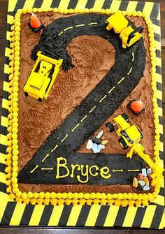 Construction Cake - perfect for boy birthday