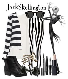 Jack Skellington~ Disney Bound by dead-love on Polyvore featuring polyvore, fashion, style, Topshop, Boohoo, Bernard Delettrez, Mykita, NARS Cosmetics, MAKE UP FOR EVER and Givenchy