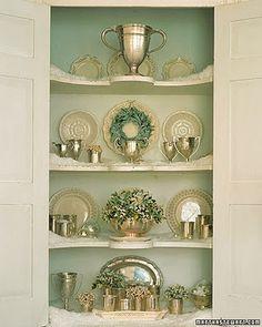 Beautiful China Cabinet Display
