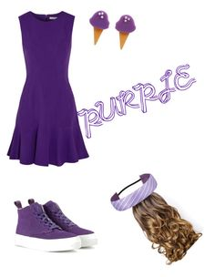 """""""Purple"""" by sharkyswimgirl ❤ liked on Polyvore featuring Diane Von Furstenberg, Eytys, Erstwilder and Lipsy"""