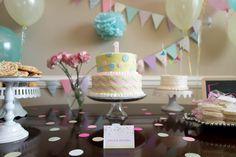 Chevron and Confetti First Birthday