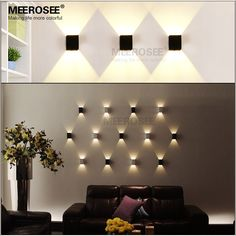 Modern Bracket LED Wall Sconce Lights, LED Wall Light Fixtures for ...